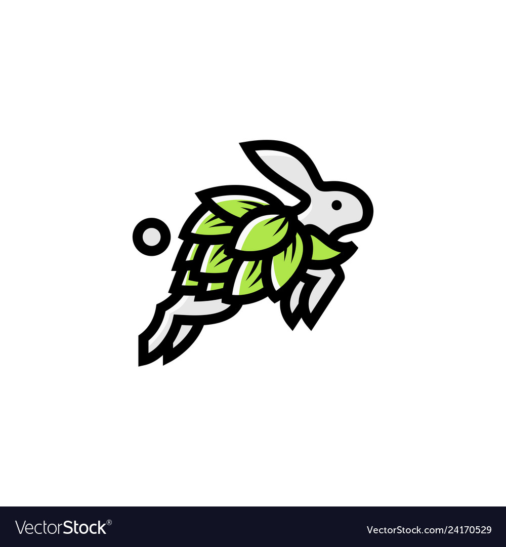 Bunny hop brew logo icon template