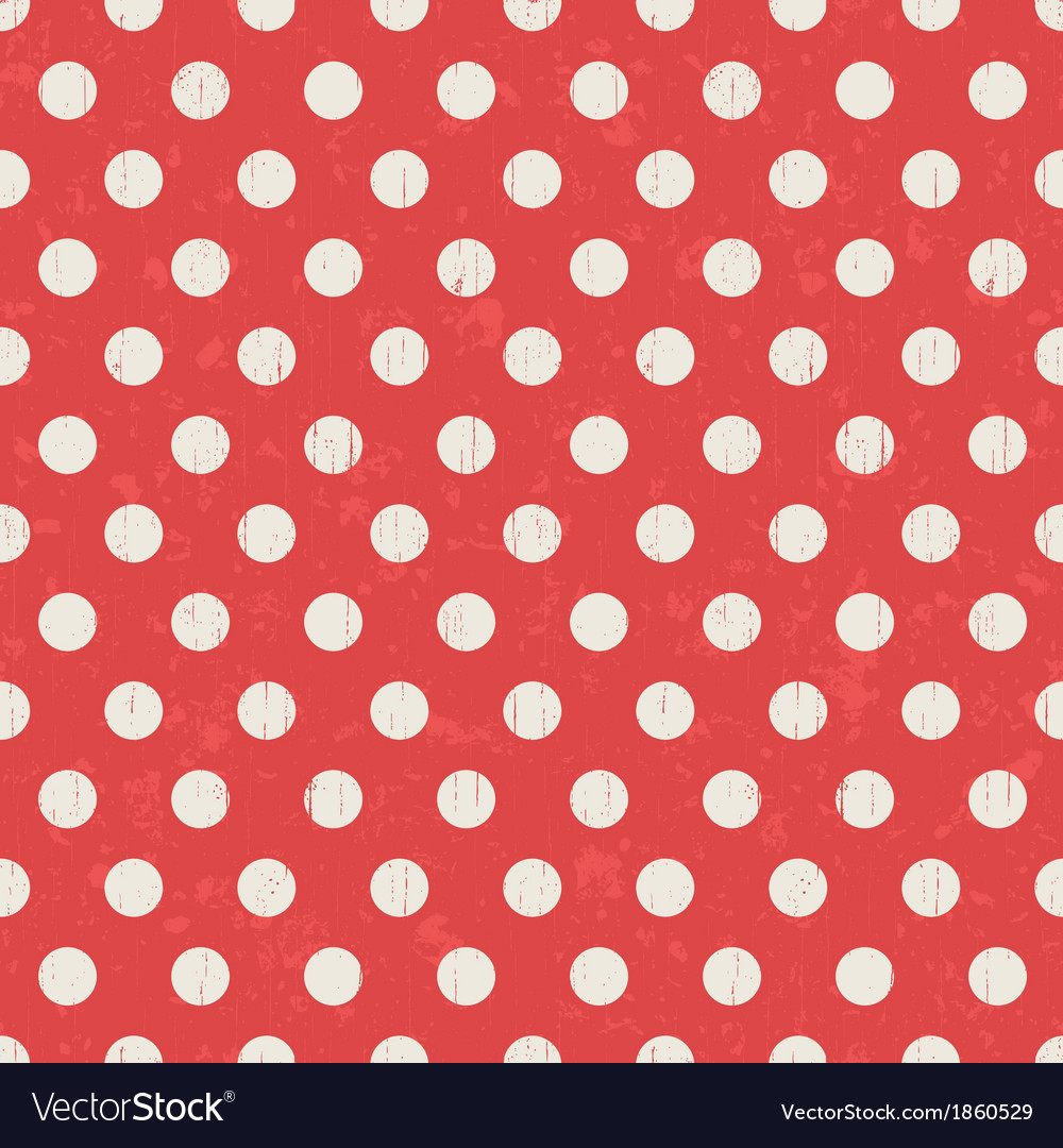 Seamless polka dots texture red pattern