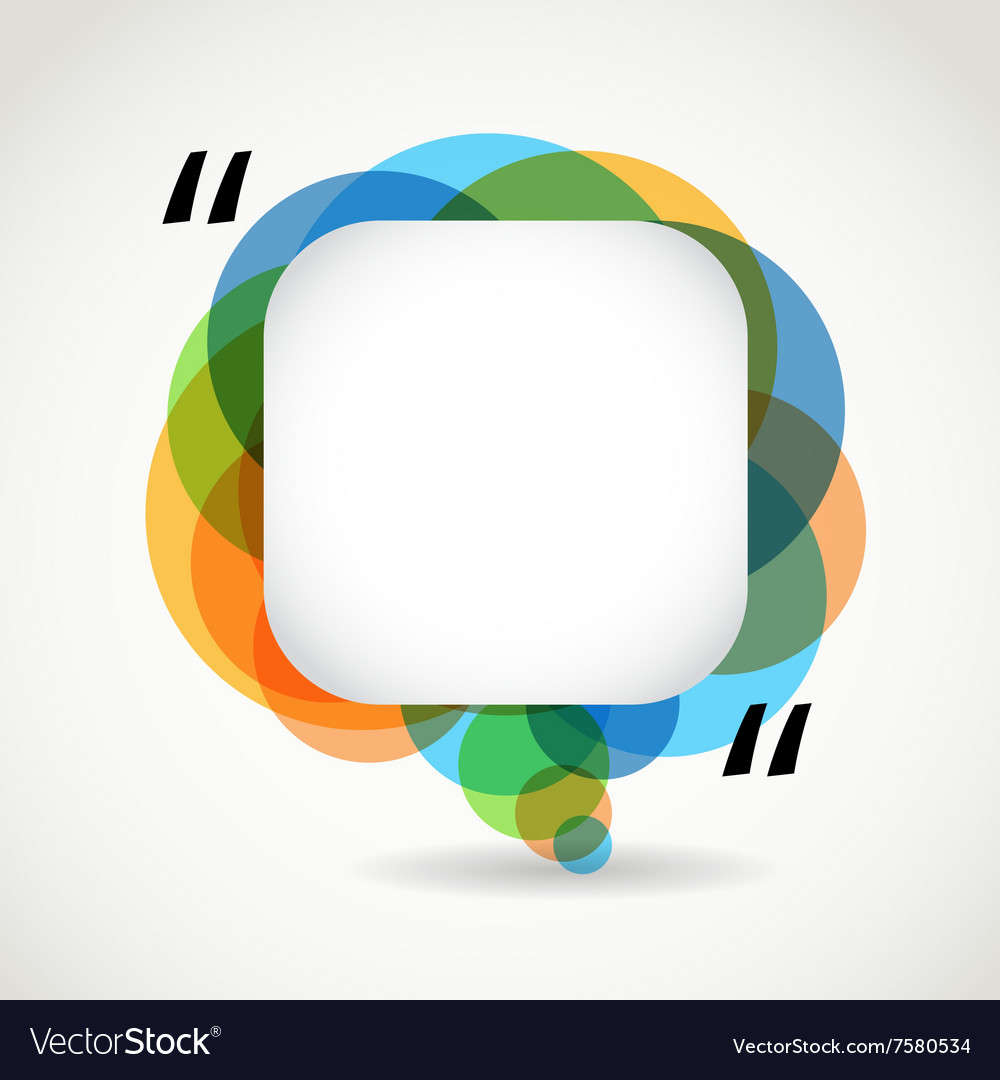 Abstract color speech cloud Quote layout