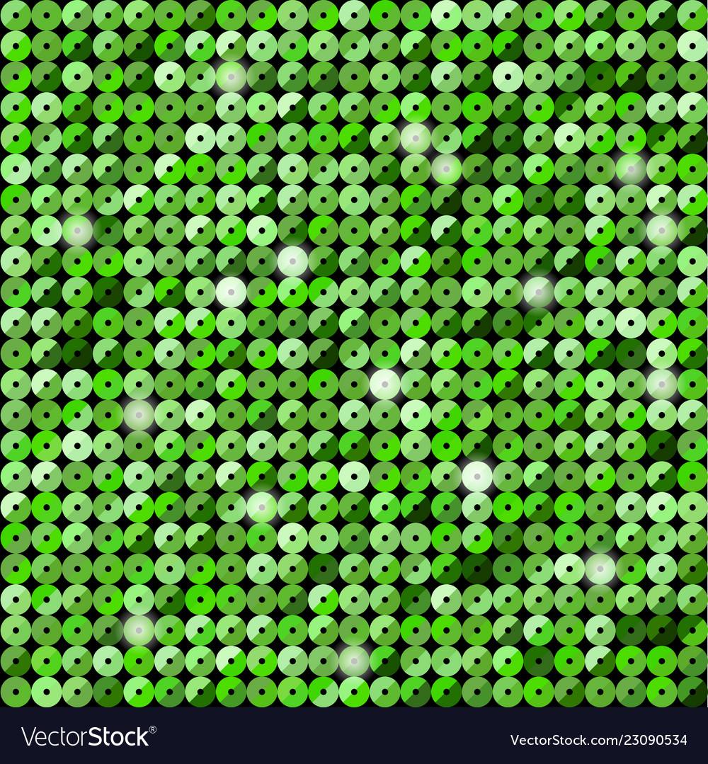 Banner green sequin mosaic glitter sparkle glow