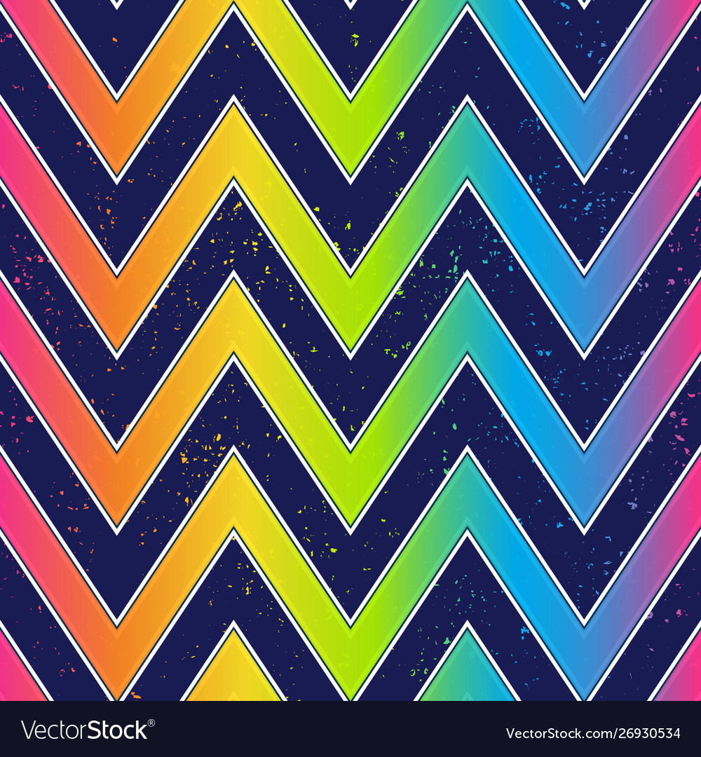 Bright zigzag seamless pattern with grunge effect