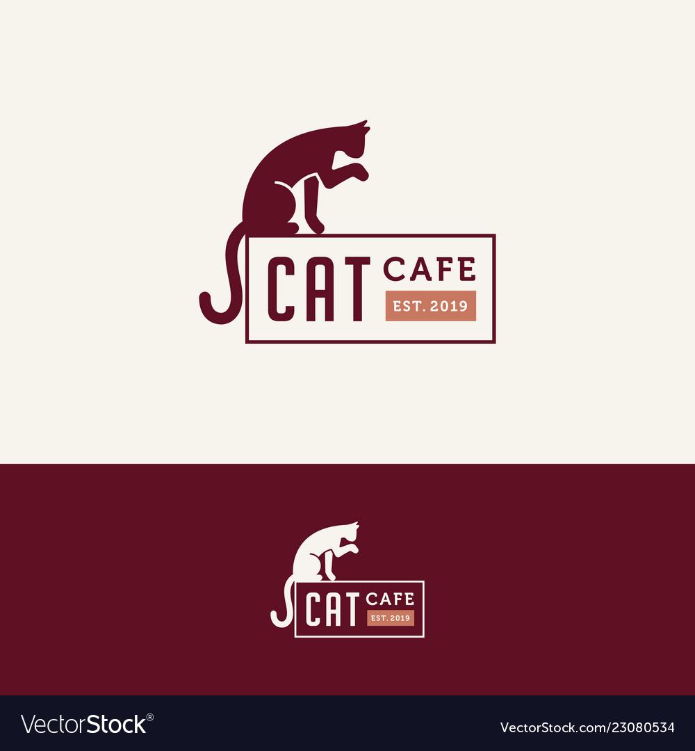 Cat cafe logo