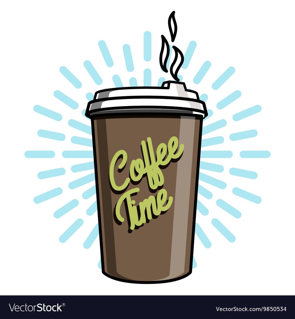Color vintage coffee emblem