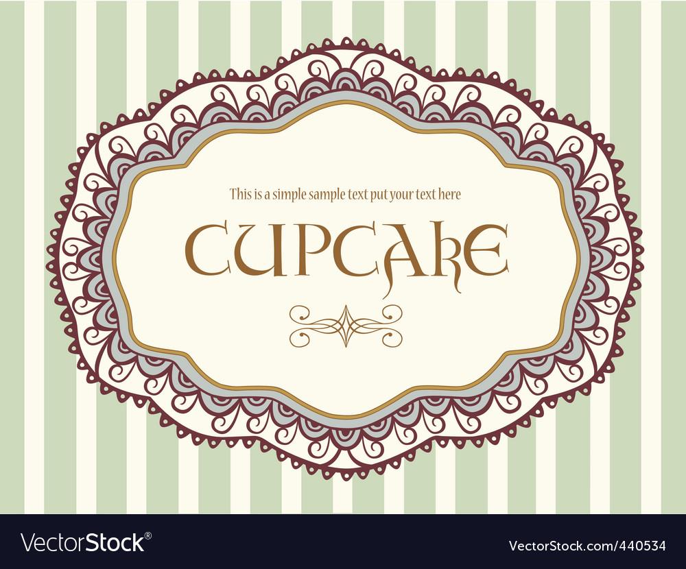 Cute vintage label vector image