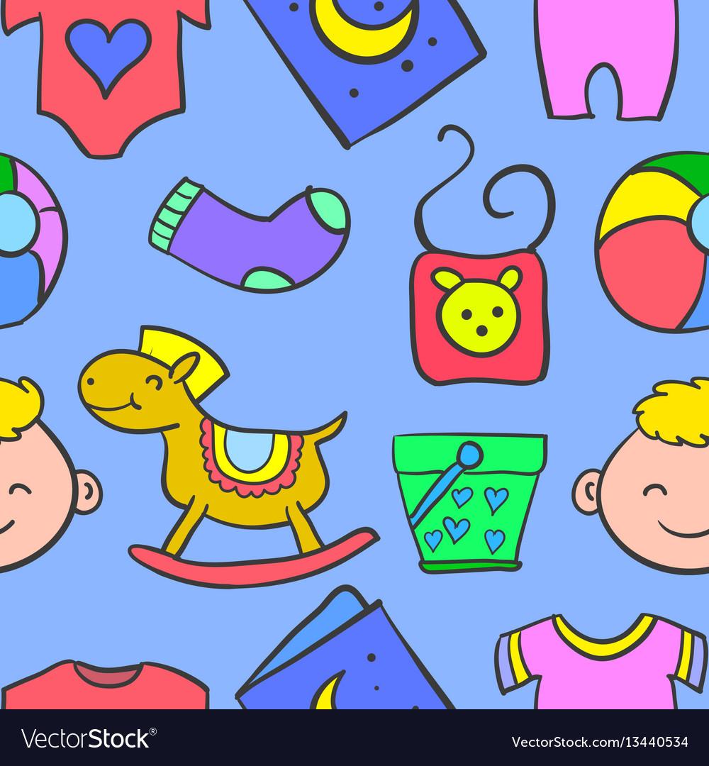 Element baby doodles vector image