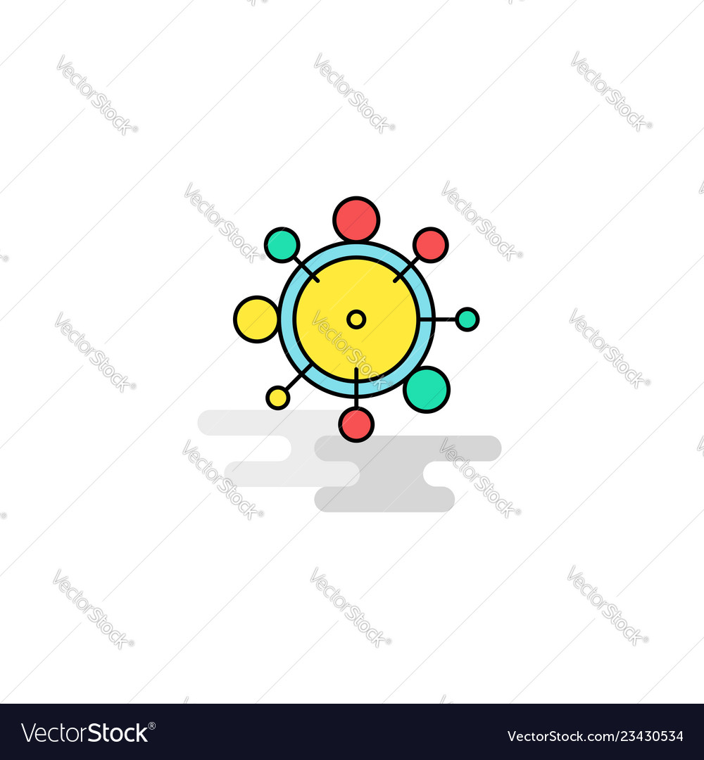 Flat chemical bonding icon vector image on VectorStock