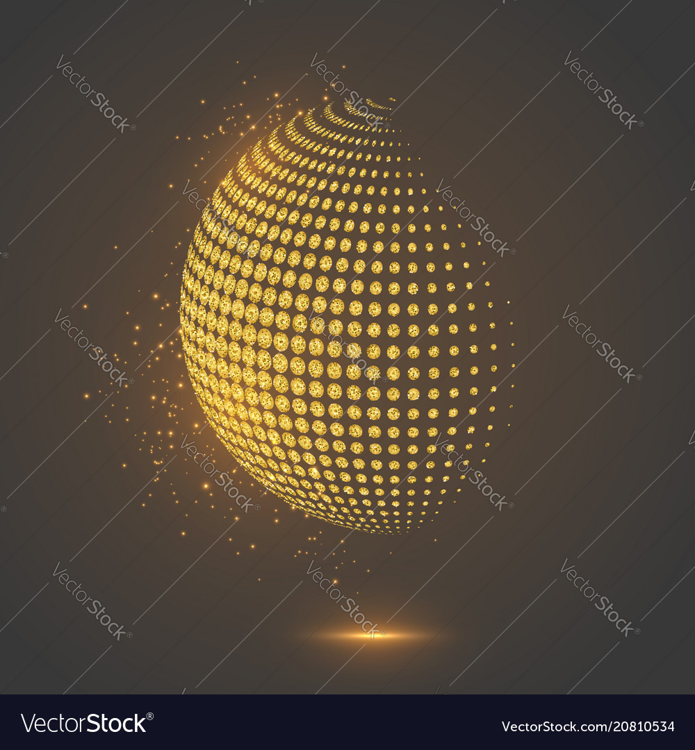 Glitter abstract globe dotted sphere