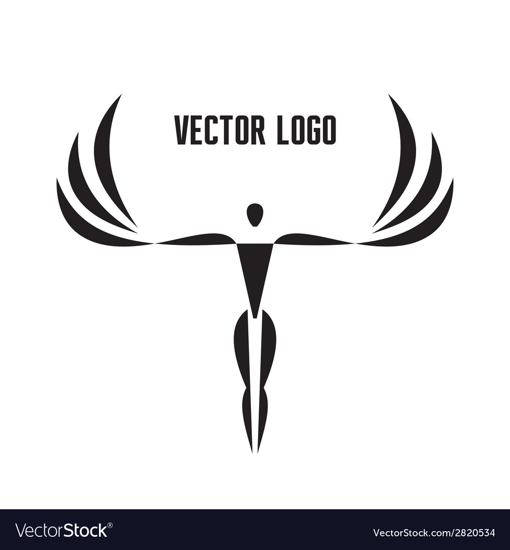 Logo Template - Man with Wings