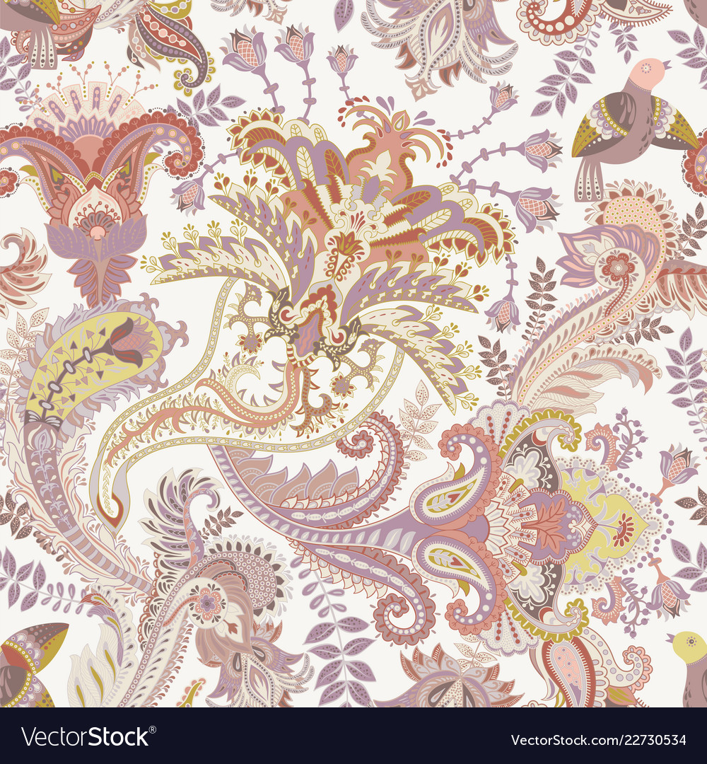 Paisley pattern indian ornament for
