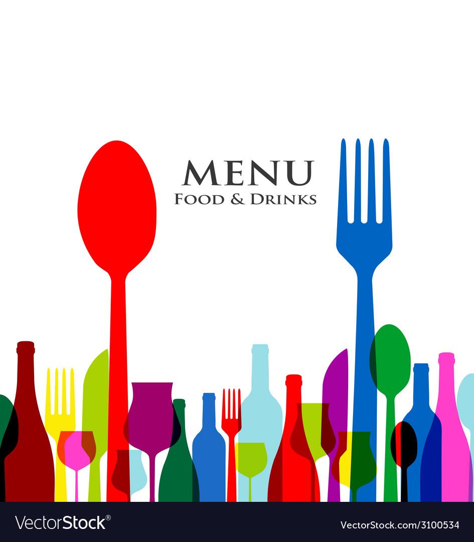 Retro cover restaurant menu designs on white vector image