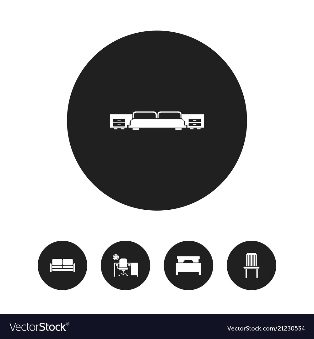 Set of 5 editable furniture icons includes