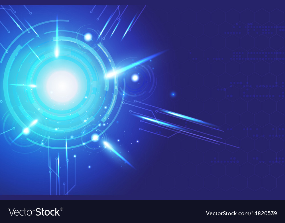 Blue background abstract technology communication