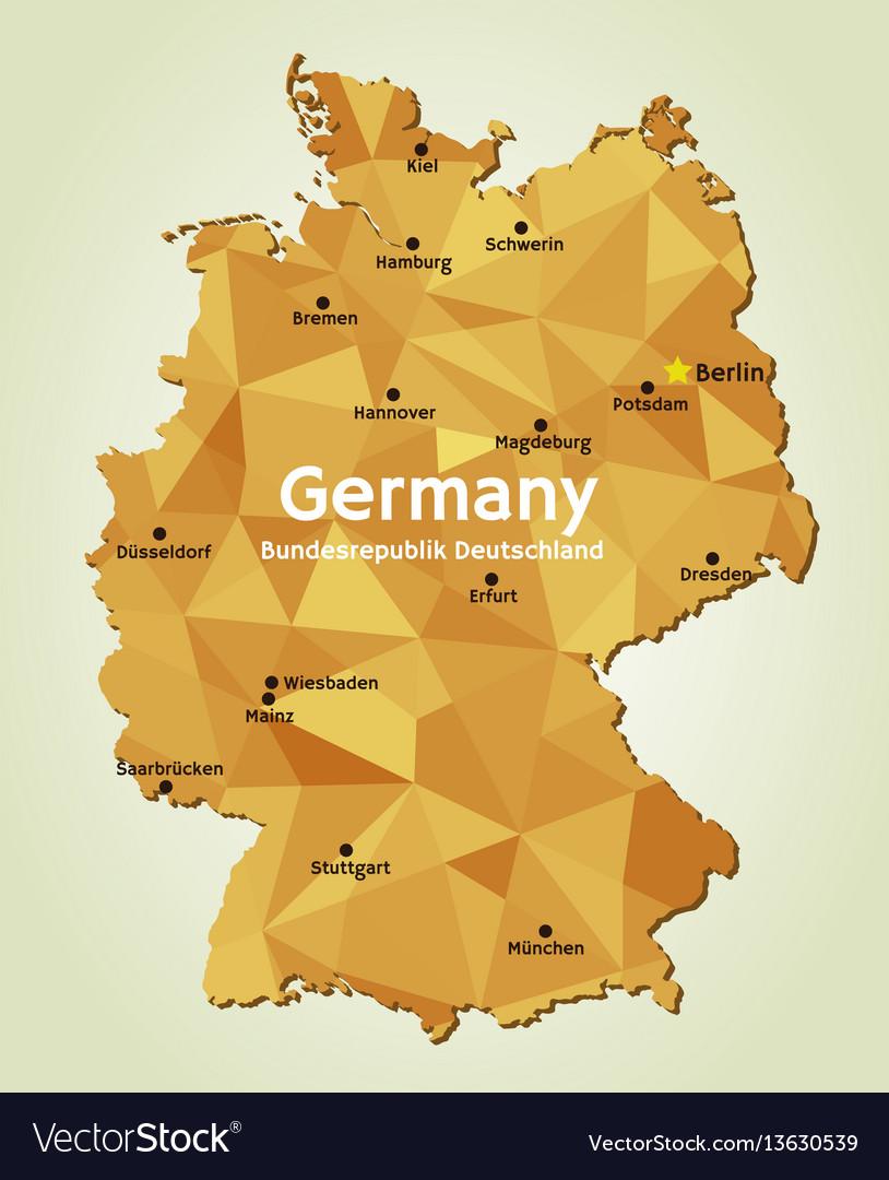 Map Of Deutschland Germany.Map Of Germany Bundesrepublik Deutschland