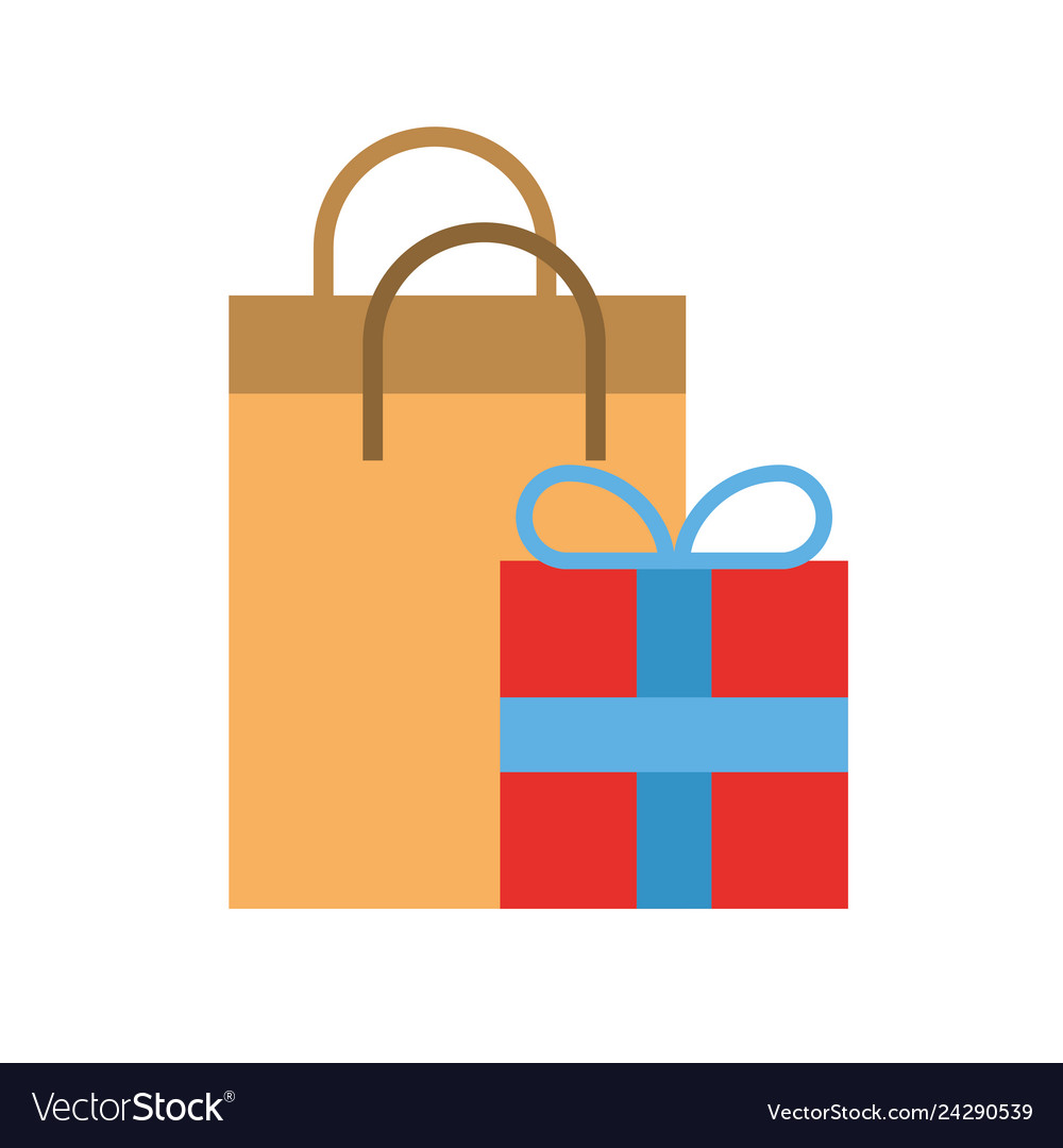 Online shopping paper bag and gift box