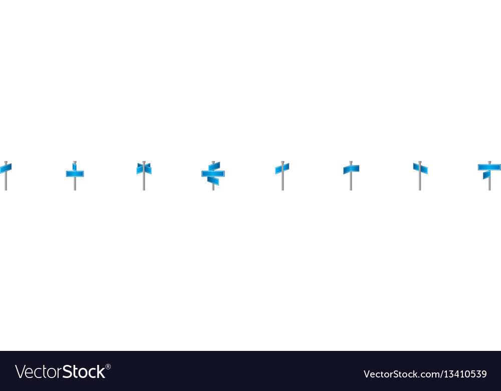 Rectangle shape with metal pointer direction in vector image