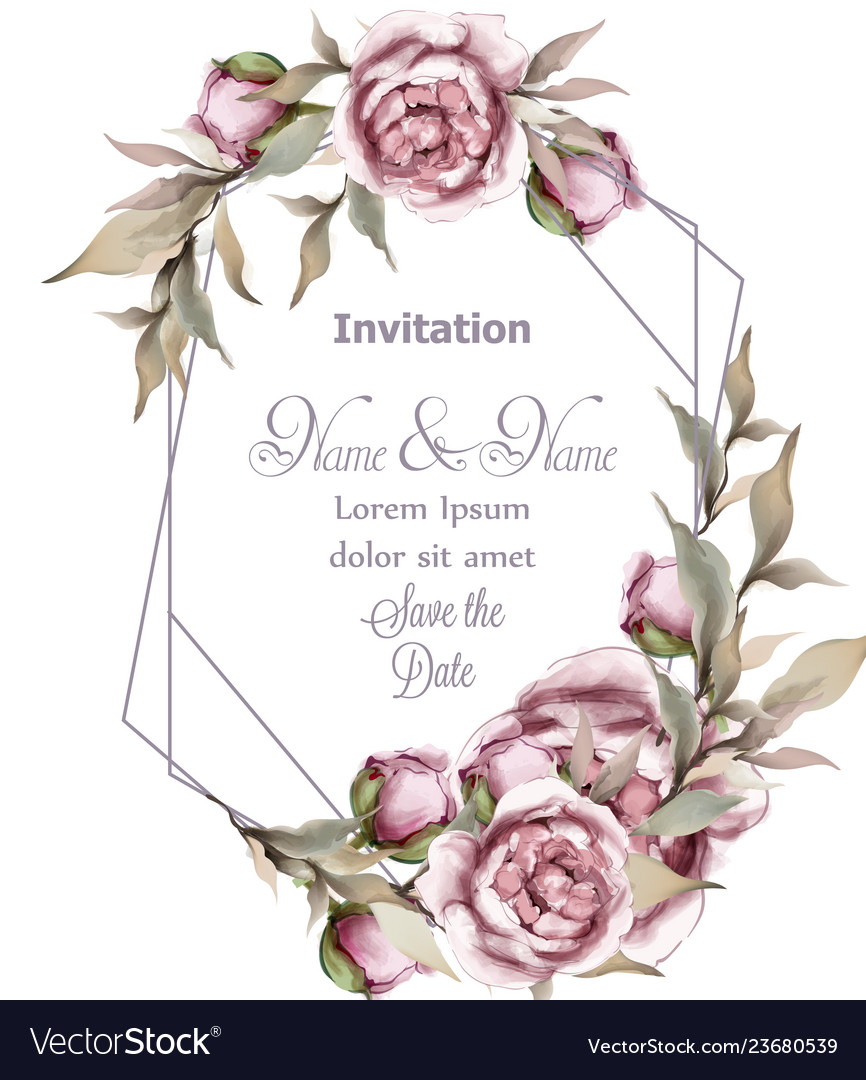 rose delicate abstract frame wedding royalty free vector vectorstock