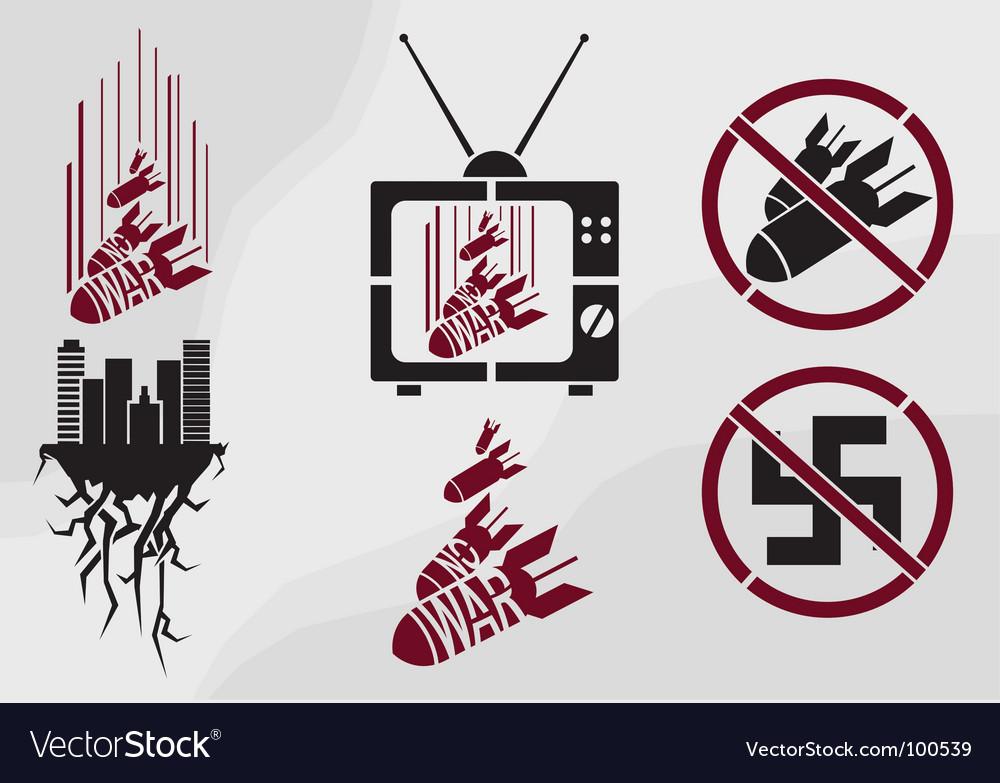 Stencil in propaganda style vector image