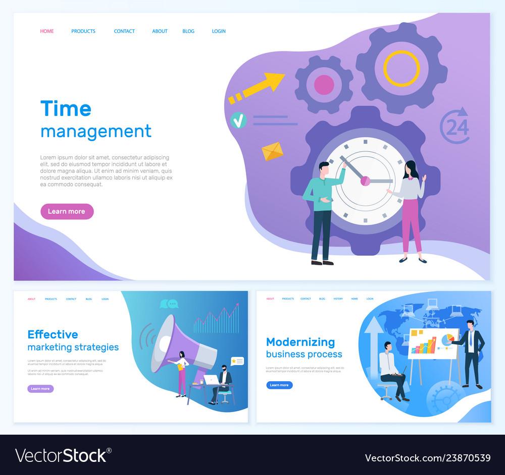 Time management marketing or business development