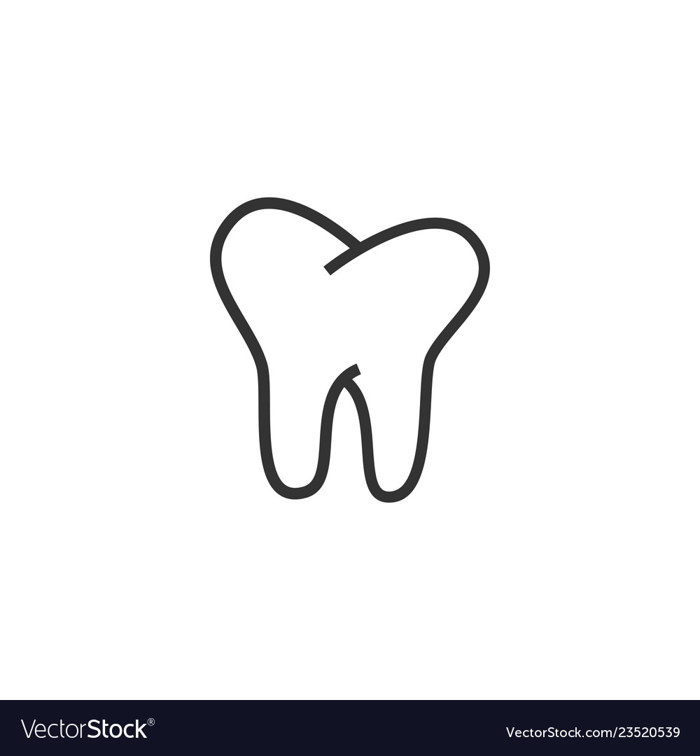 Tooth dental icon graphic design template vector