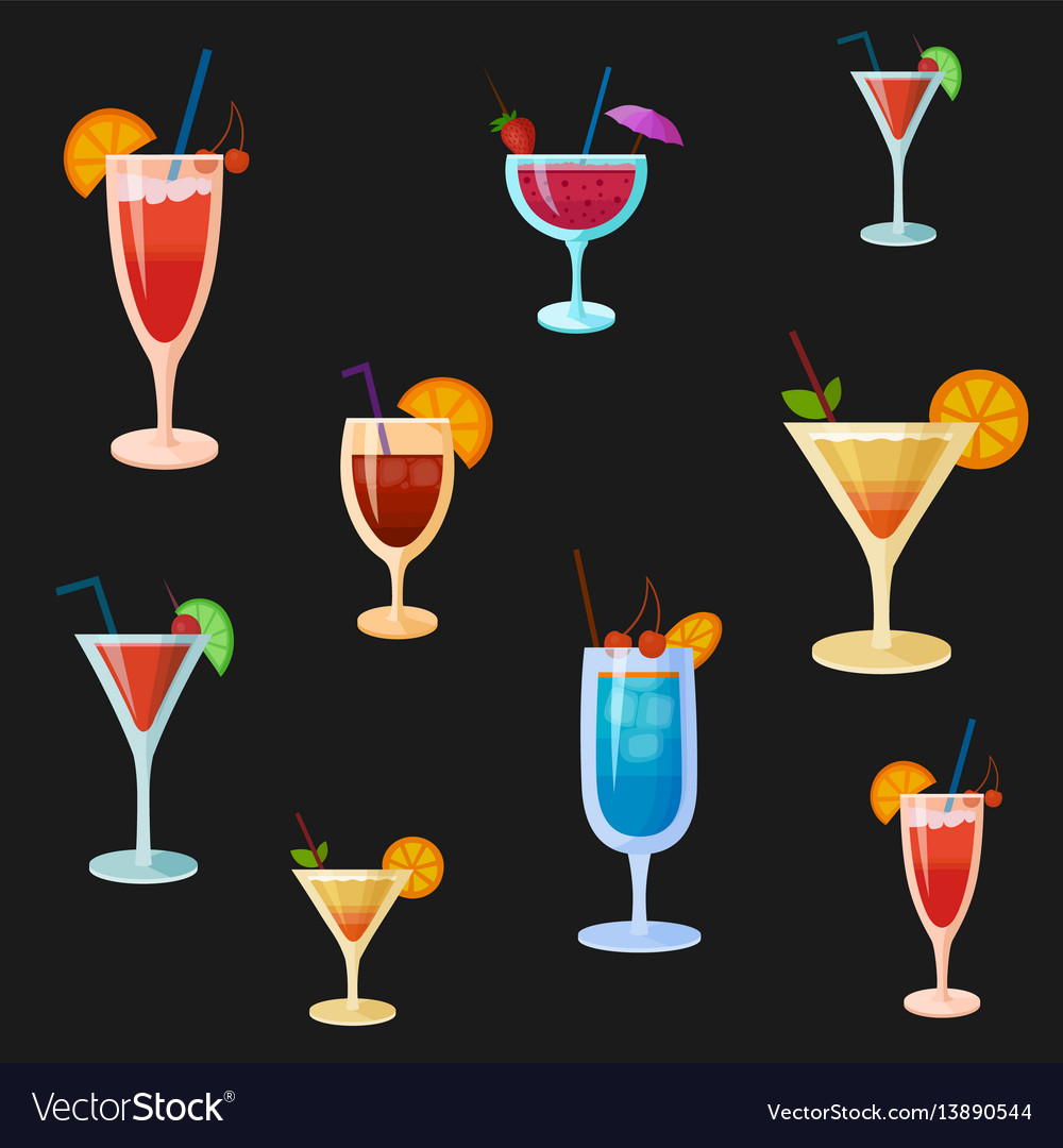 Background with cocktails