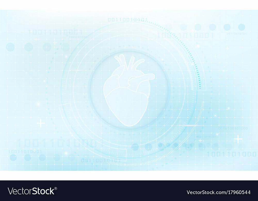 Heart in circle interface virtual future