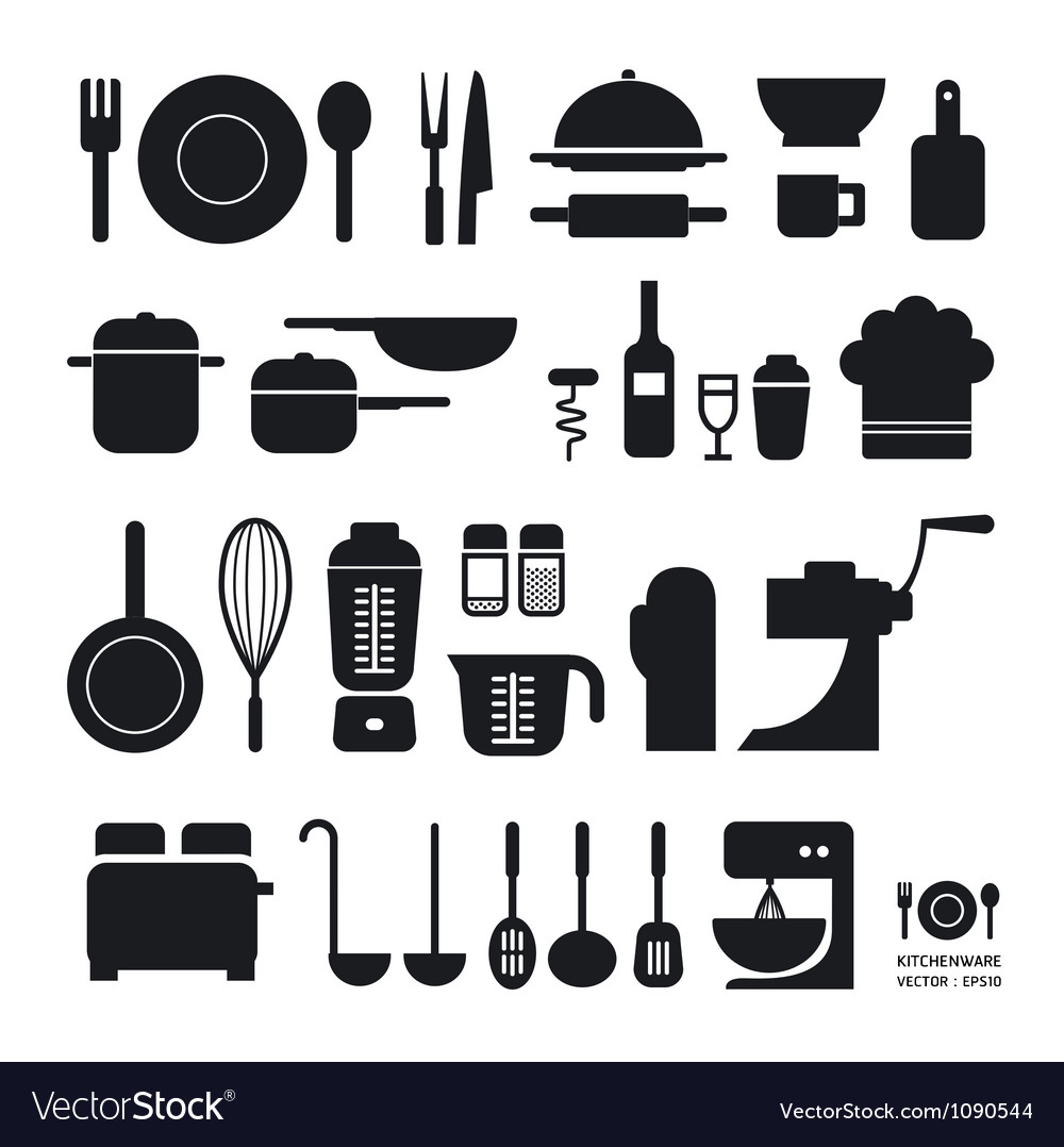 Kitchen tool icons collection