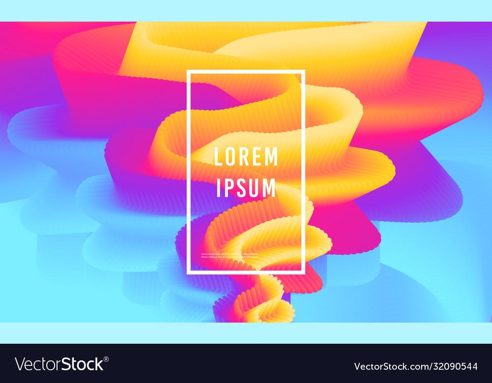 Modern abstract design background rainbow flow