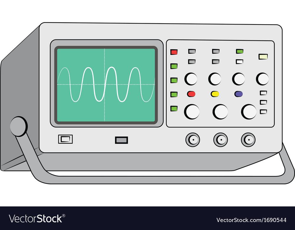 Oscilloscopetest instrument vector image