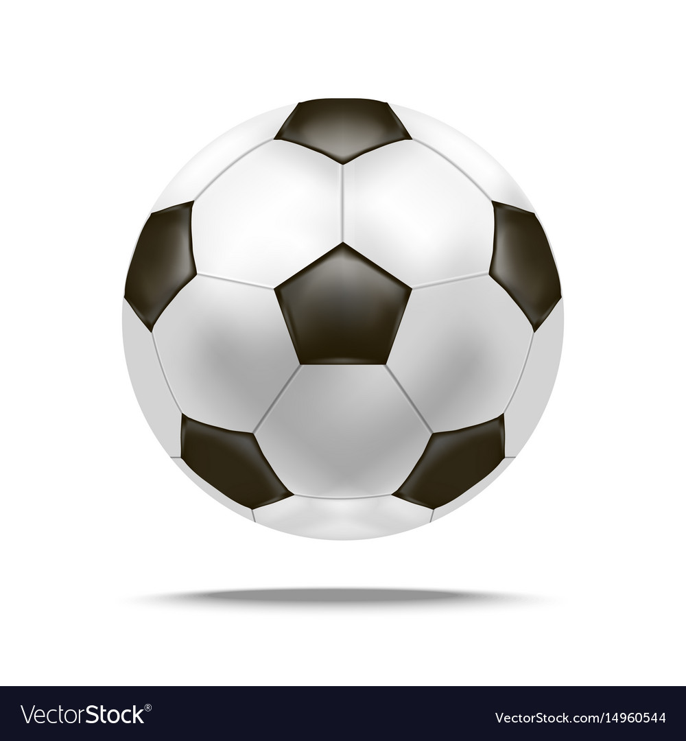 Realistic detailed soccer ball
