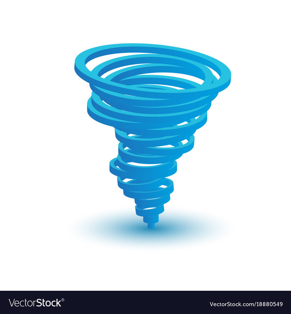 3d tornado symbol made by circles