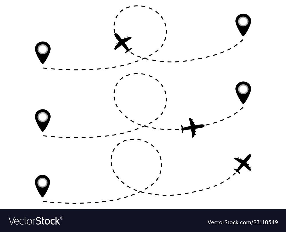 Airplane line path