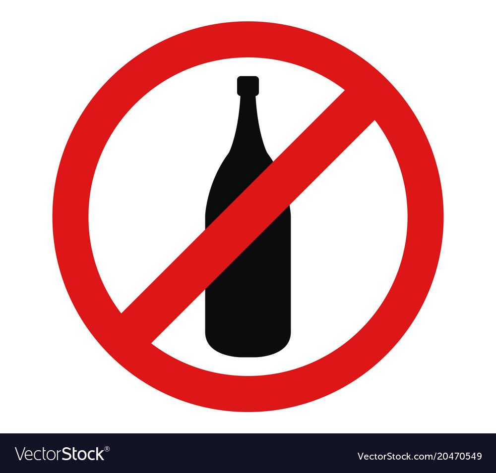 Alcohol prohibition icon