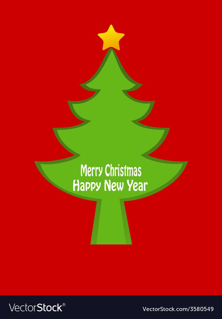 Christmas tree card design
