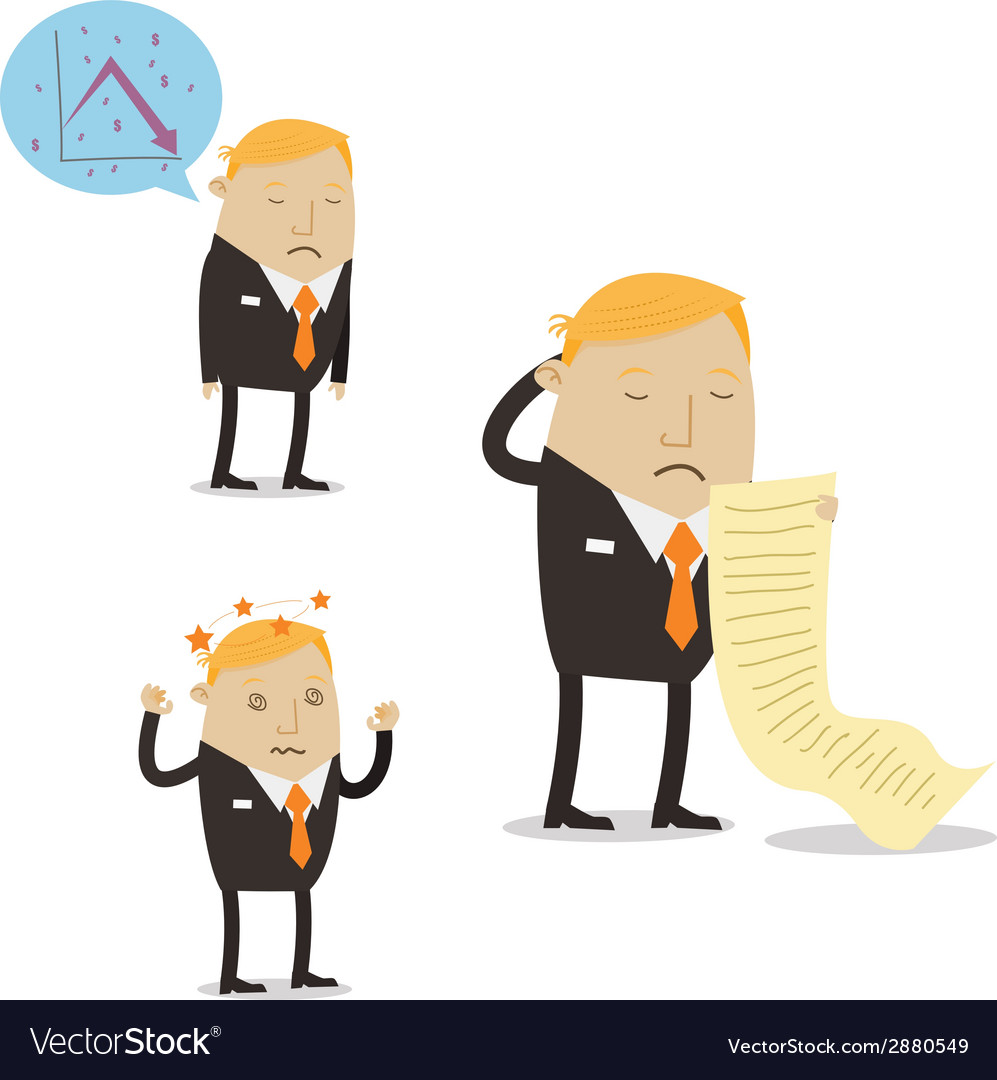 Falling Sales Businessman vector image