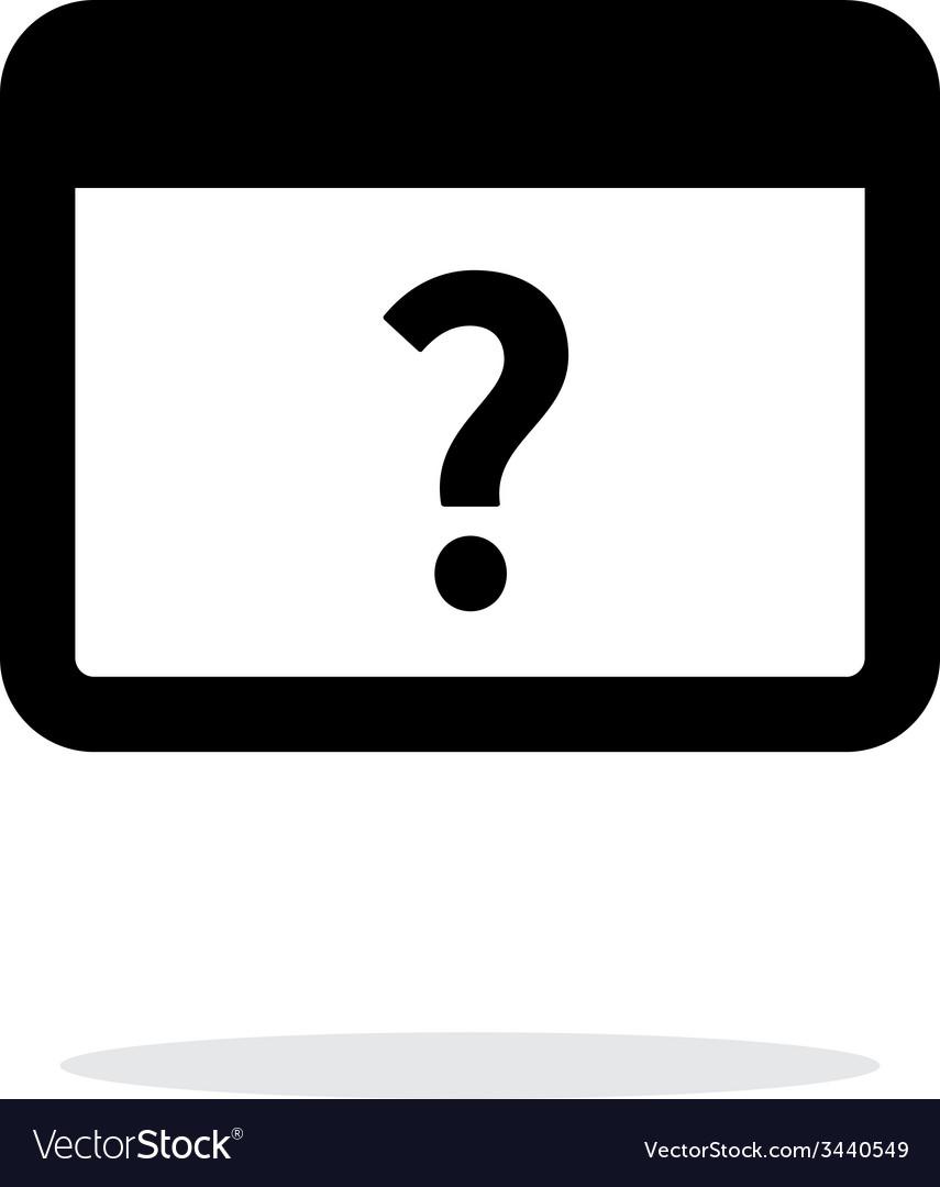 FAQ application icon on white background