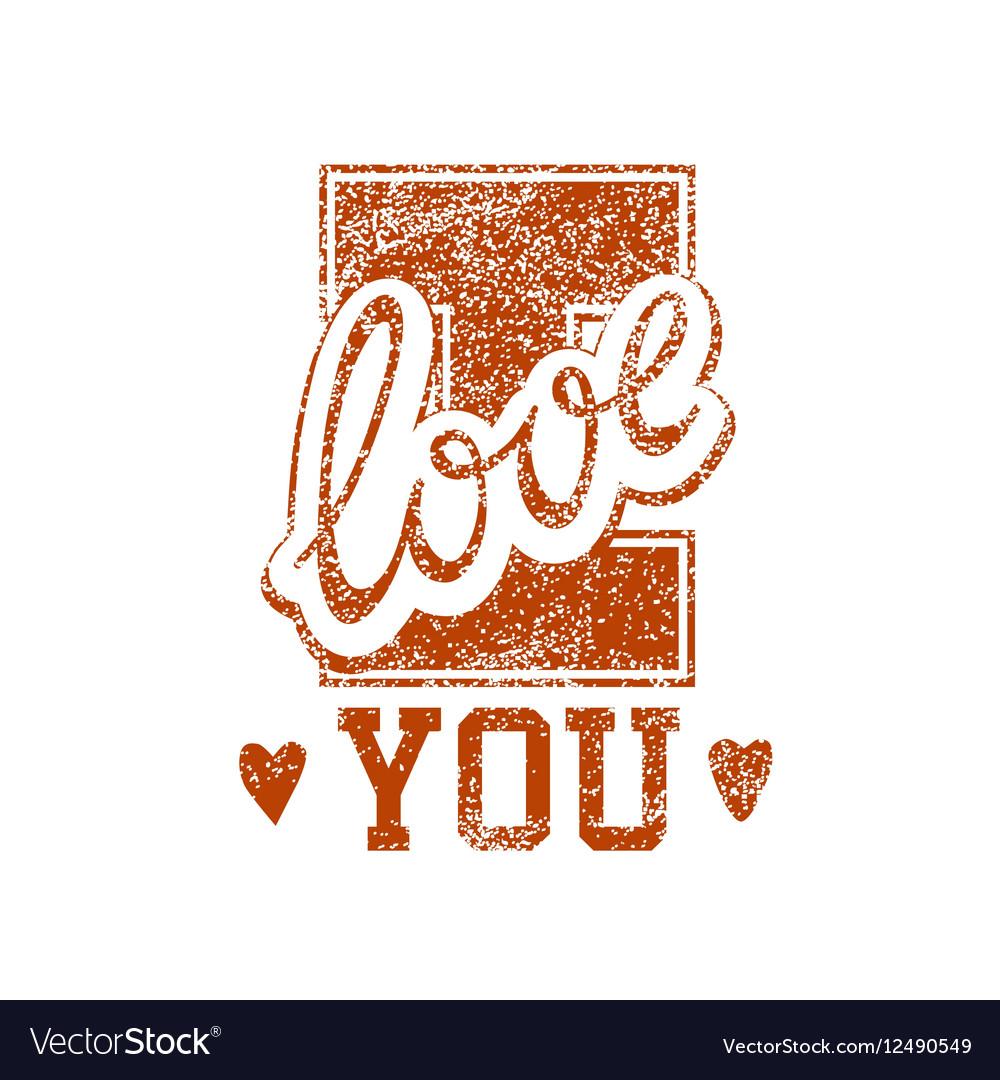 Love Grunge Stamp
