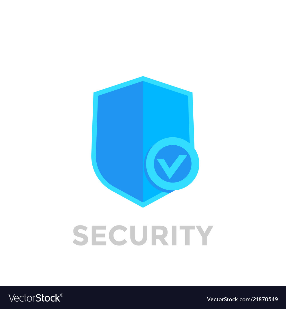 Shield with check mark security icon