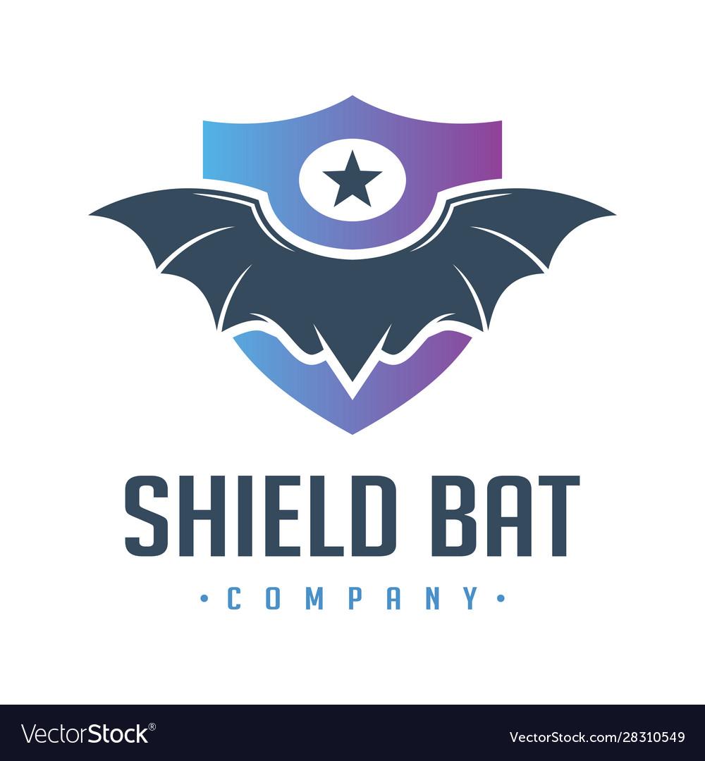 Wild bat shield logo design