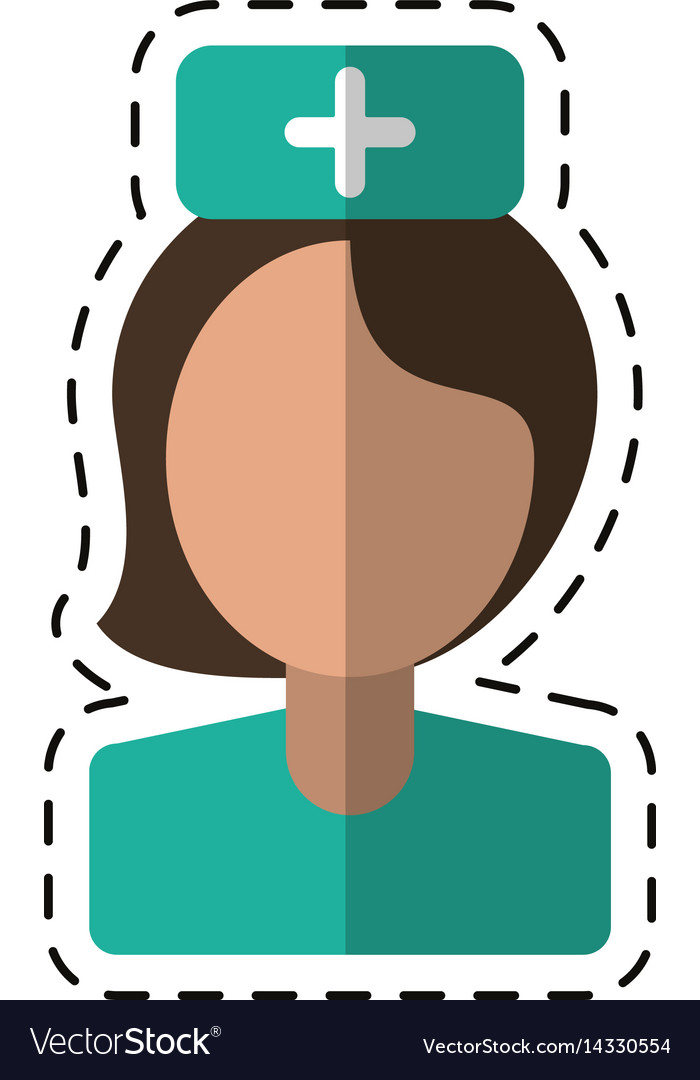 Cartoon nurse staff medical hospital vector image