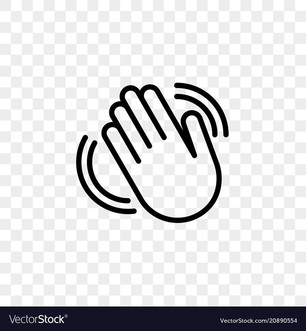 Hand waving flat icon