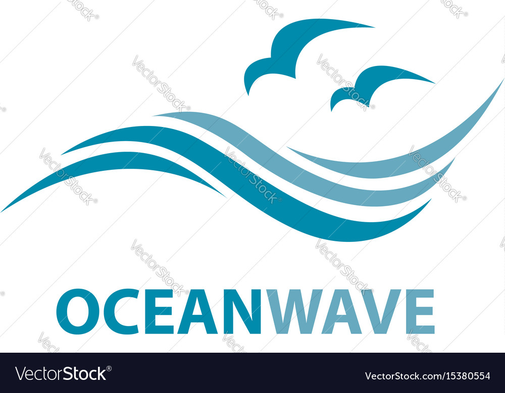 ocean wave logo royalty free vector image vectorstock rh vectorstock com waves free vector free wave vector file