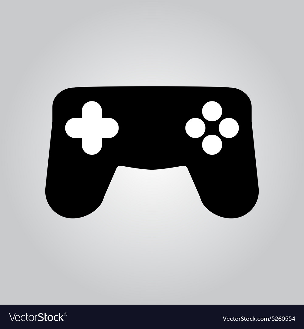 The Gamepad Icon Game Symbol Flat Royalty Free Vector Image