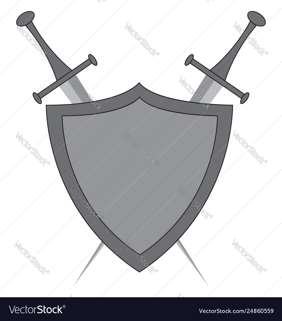 Sword crossed. Clipart swords and shield