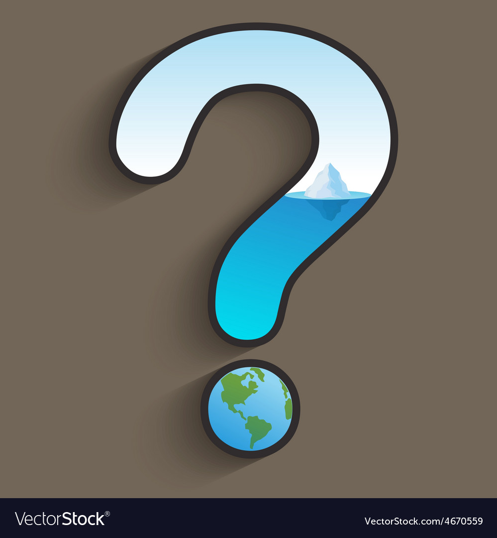 Global Warming Question vector image