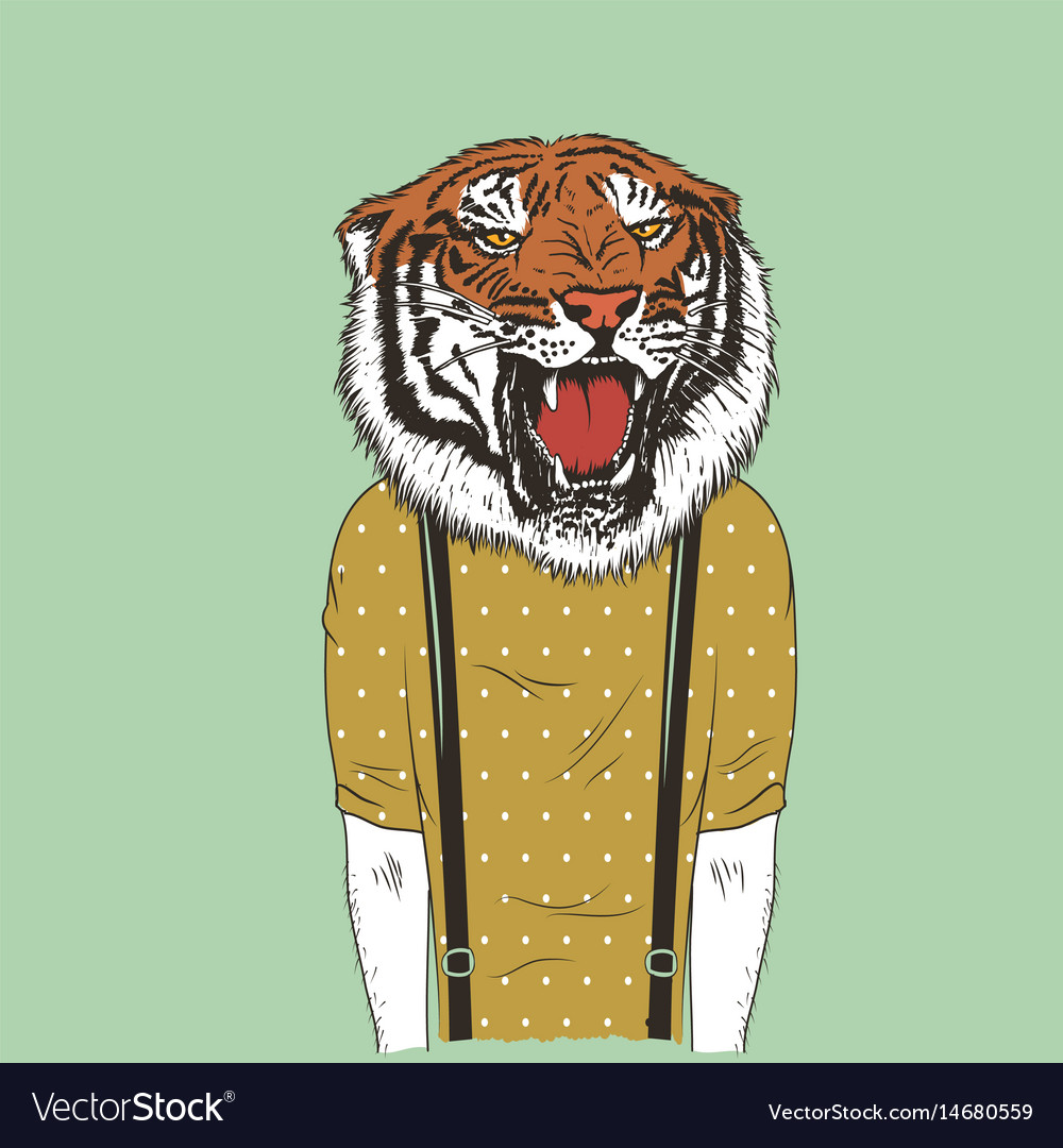 Human with tiger head