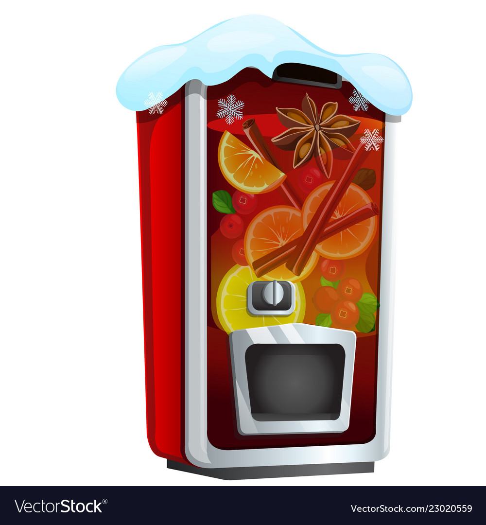Machine for sugary soda water or mulled wine