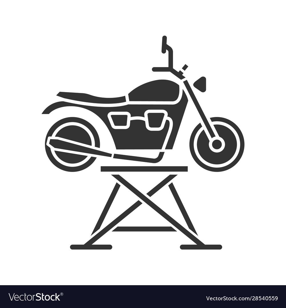 Motorbike jack glyph icon