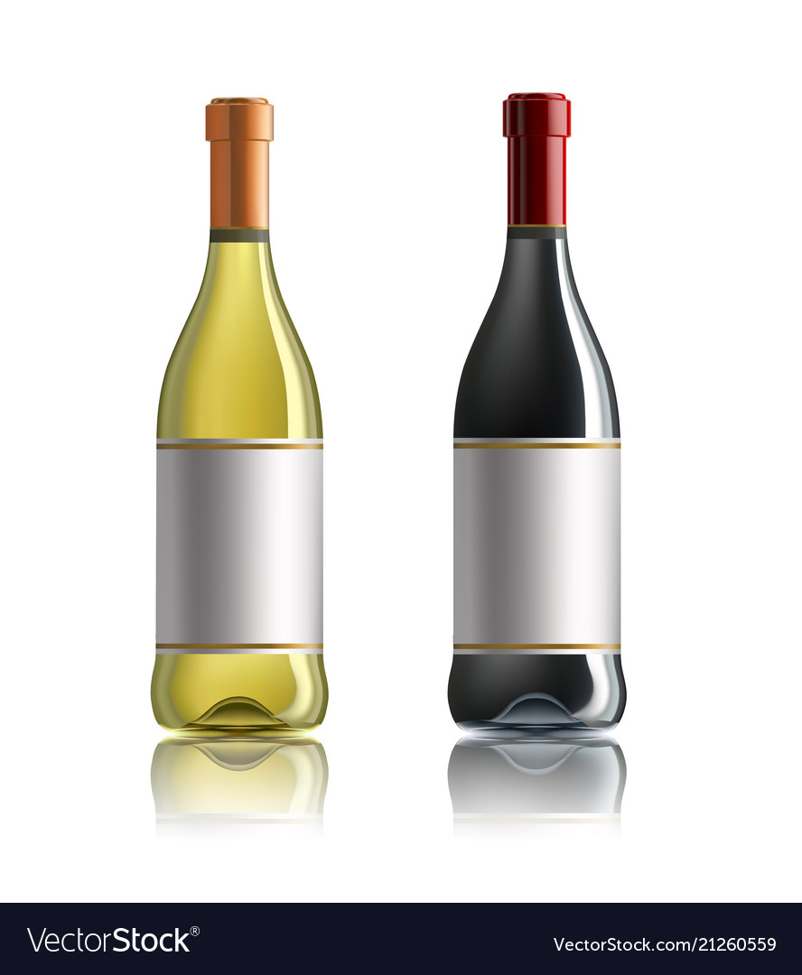 Red wine bottle set of white rose and red wine