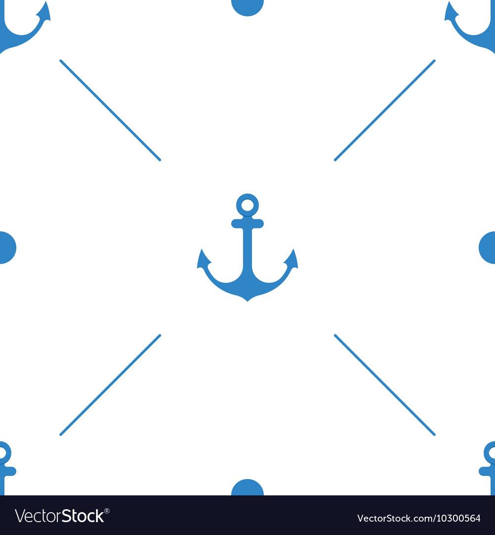 Anchor Seamless Pattern flat design