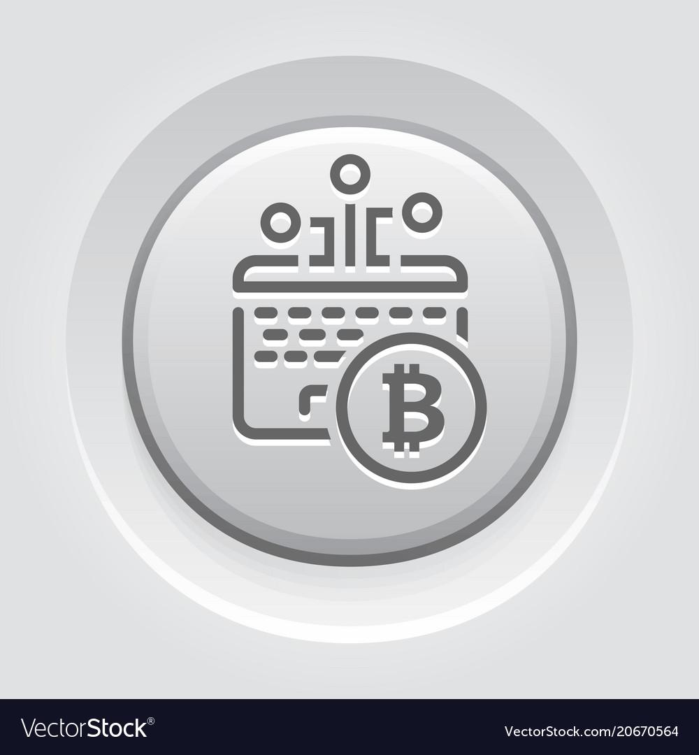 Bitcoin mining button icon